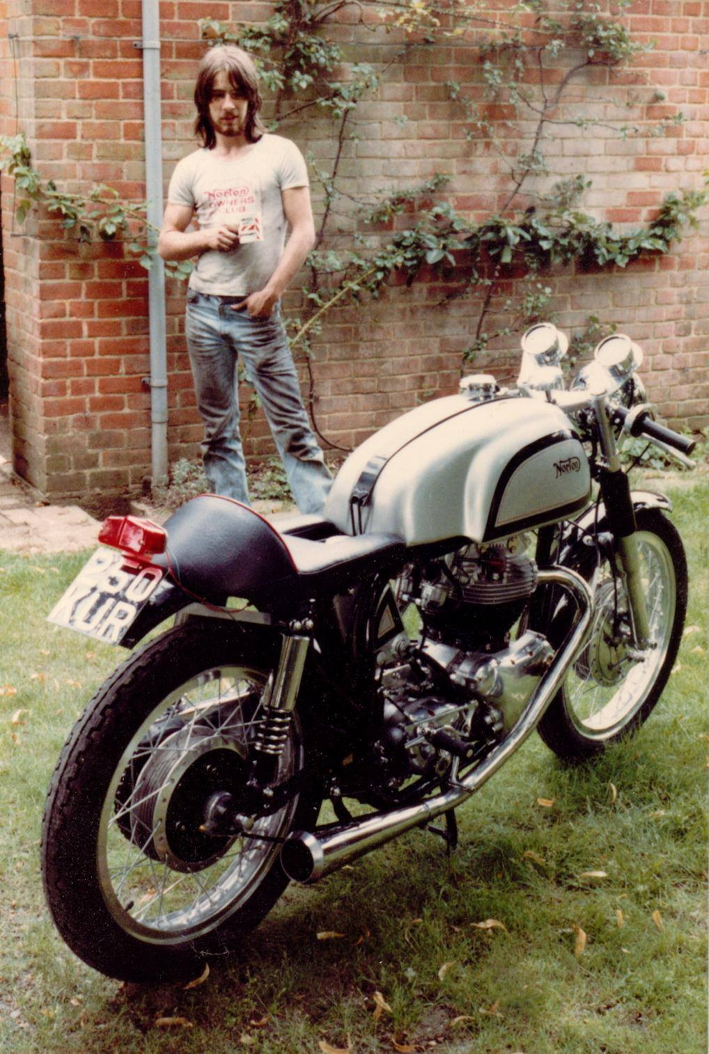Nick and his old Norton 650SS