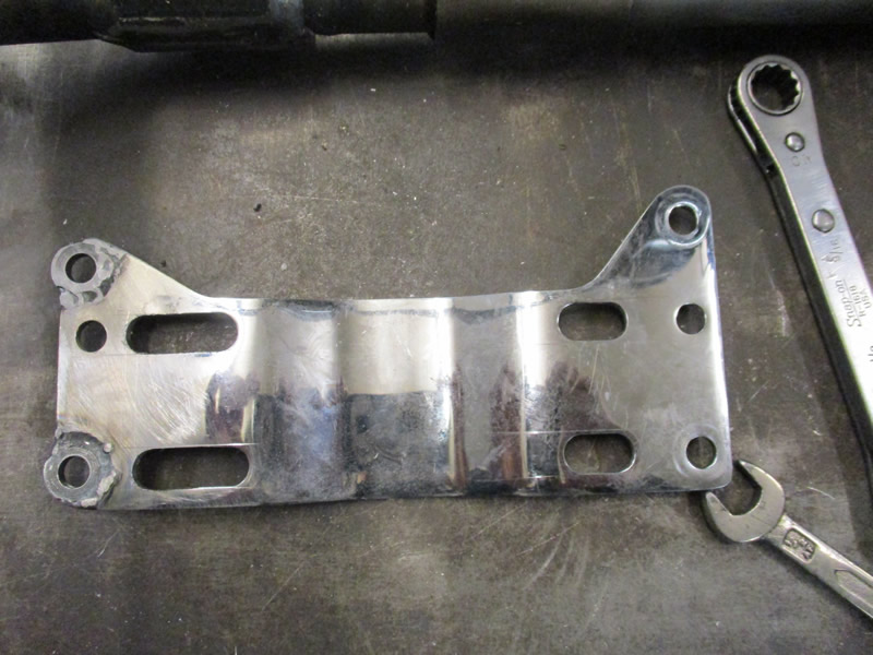 Gearbox adapter plate modified